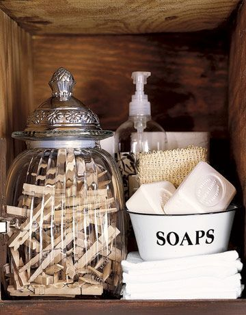 Ideas For Decorating The Shelves In The Laundry Room