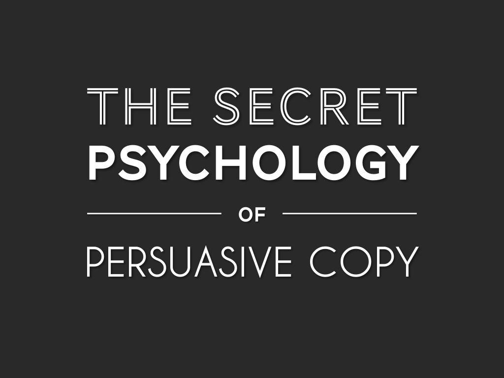 The secret psychology of persuasive copy (Conversion Conference - Las Vegas 2015) by Nathalie Nahai via slideshare