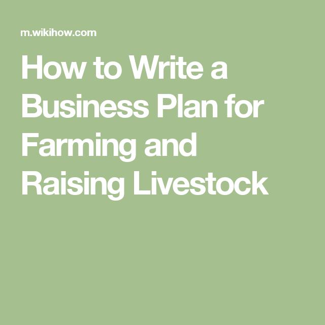 livestock farming business plan