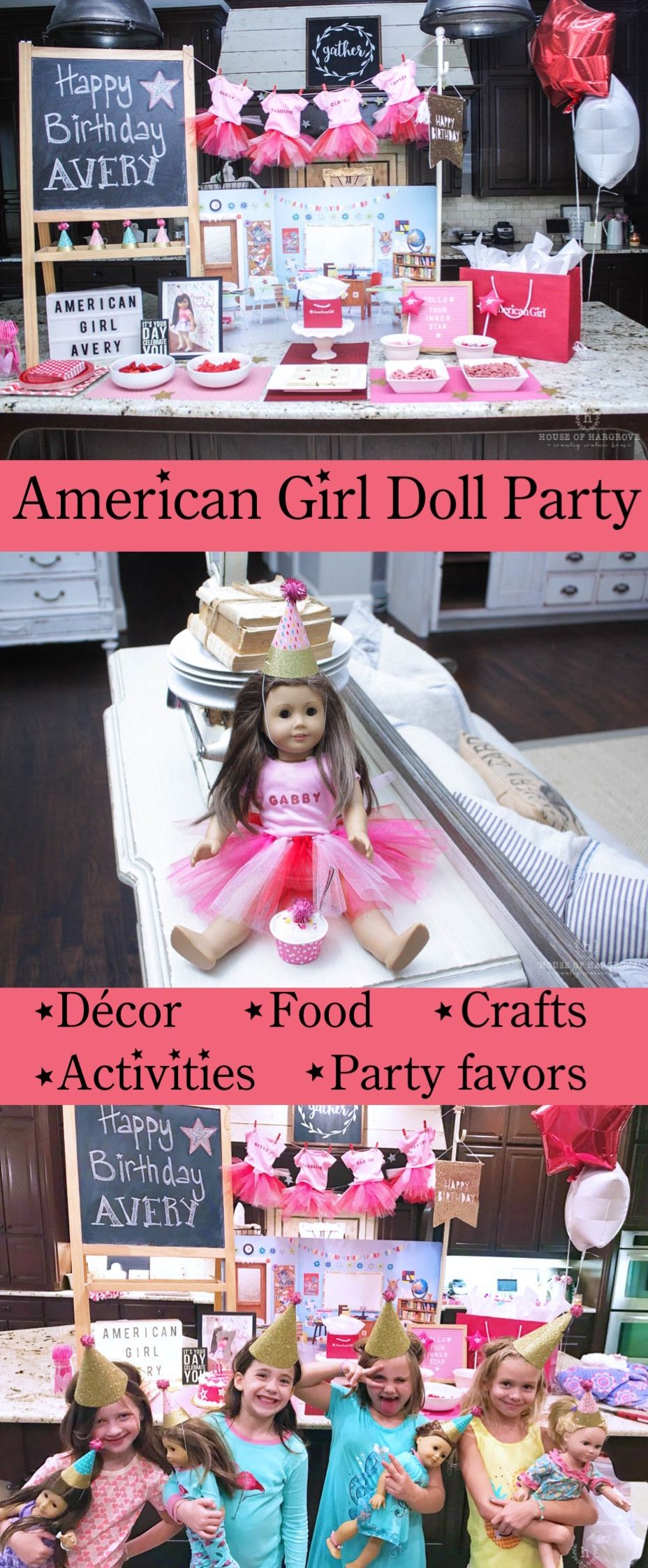 American Girl Doll Birthday Party: Avery's 7th Birthday - House of Hargrove