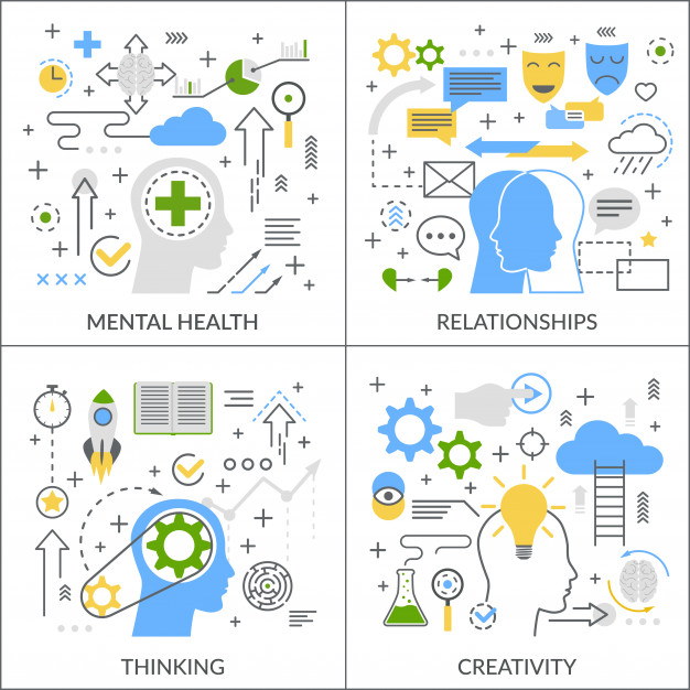 Download Mental Activity Flat Concept for free in 2020