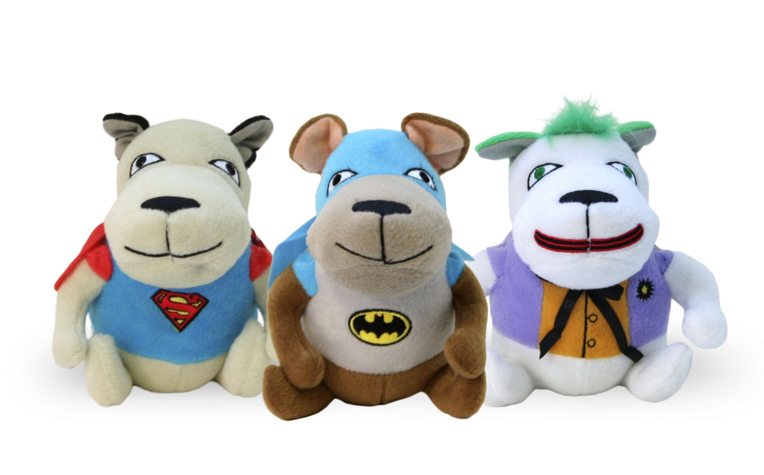 Check out these adorable plush superhero dog toys of all