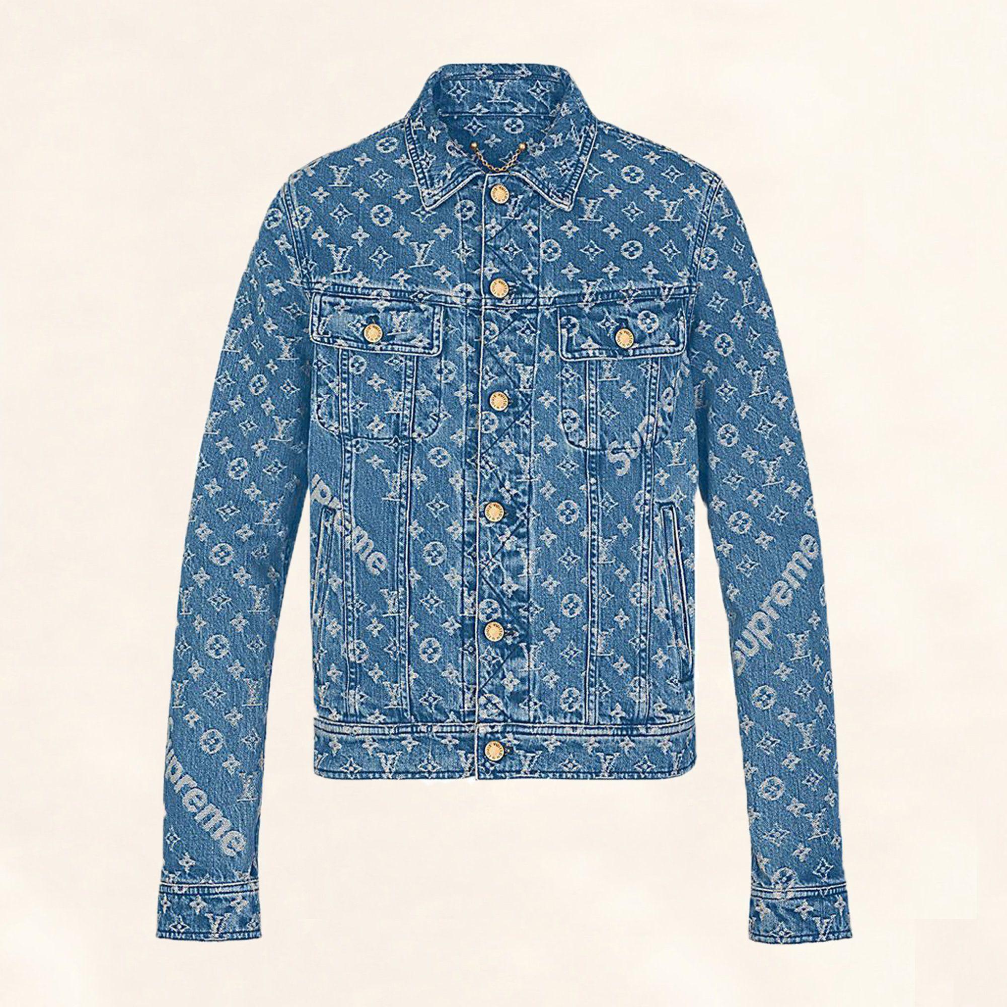 Supreme x Louis Vuitton denim jacket (With images) Mens