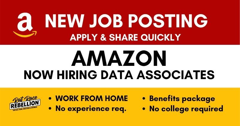 New Amazon Opening Work From Home Data Associates Benefits No
