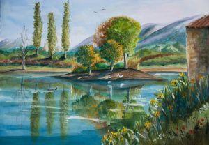 Gardanne Etang De Fontvenelle Paysage Etang De Berre Et Peinture