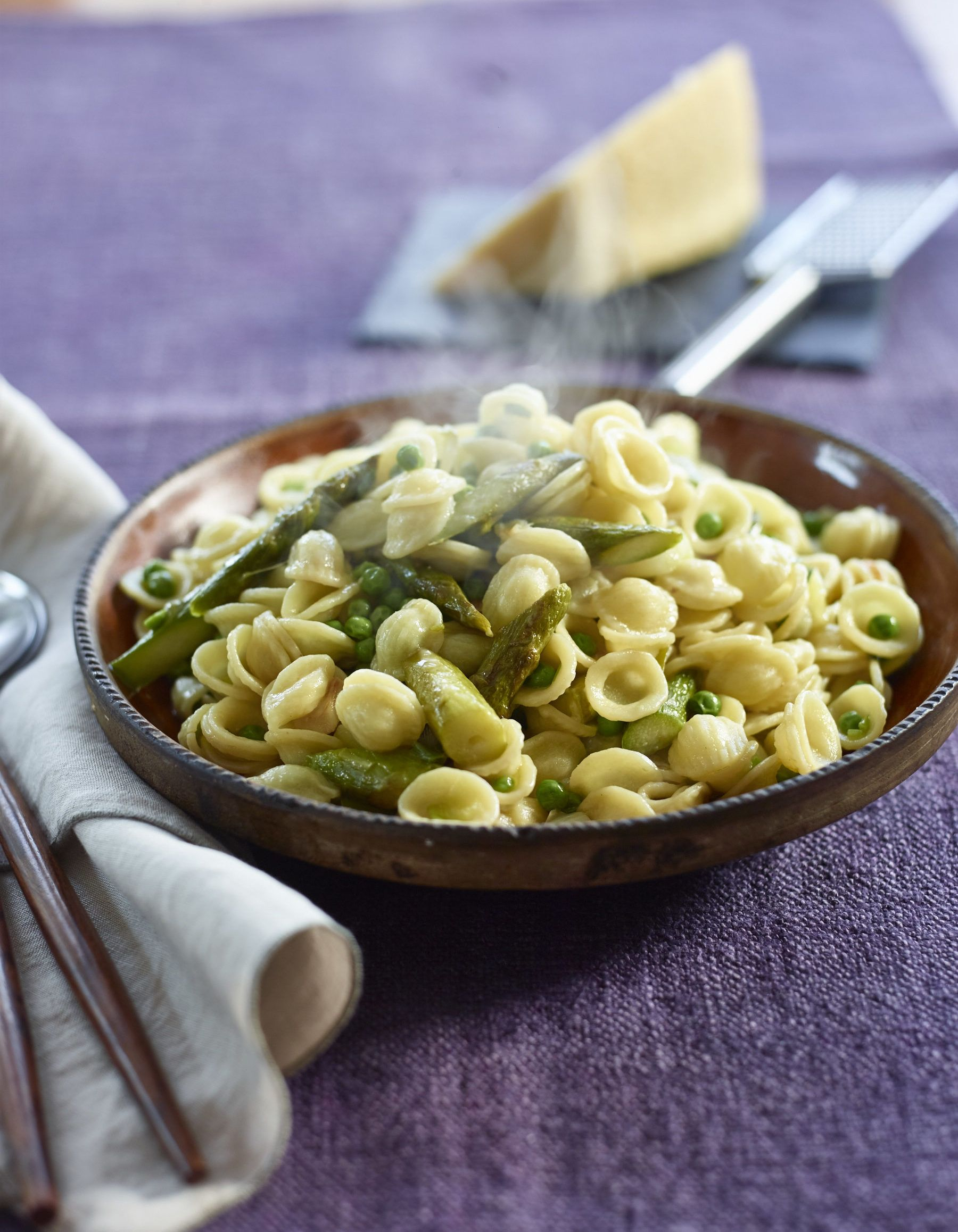 Just wanted to share this delicious recipe from Lidia Bastianich with you - Buon Gusto! ORECCHIETTE WITH ASPARAGUS AND PEAS