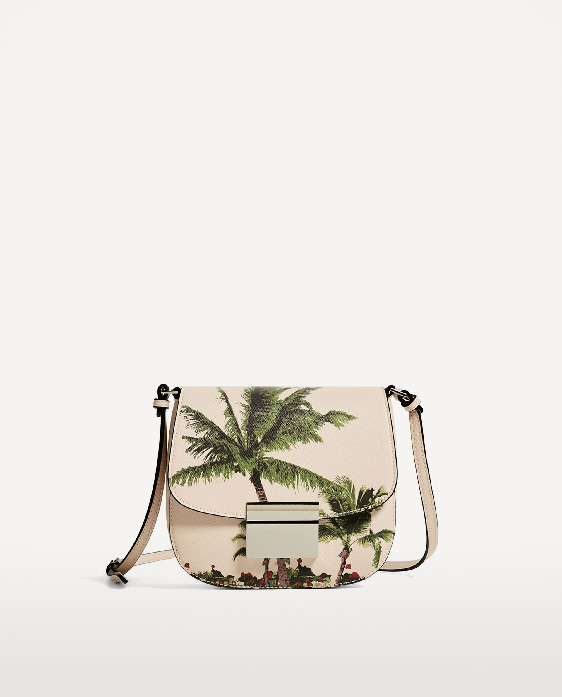 PALM TREE PRINT CROSSBODY BAG