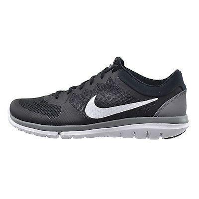 8646e3a094b Nike Flex Run 2015 Mens 709022-001 Black Grey Athletic Running Shoes Size  11.5