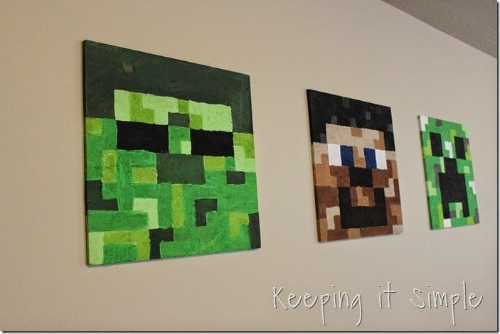 Minecraft Bedroom Idea- Easy DIY Minecraft Shelves | Diy ...