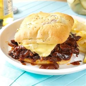 Tex-Mex Shredded Beef Sandwiches Recipe