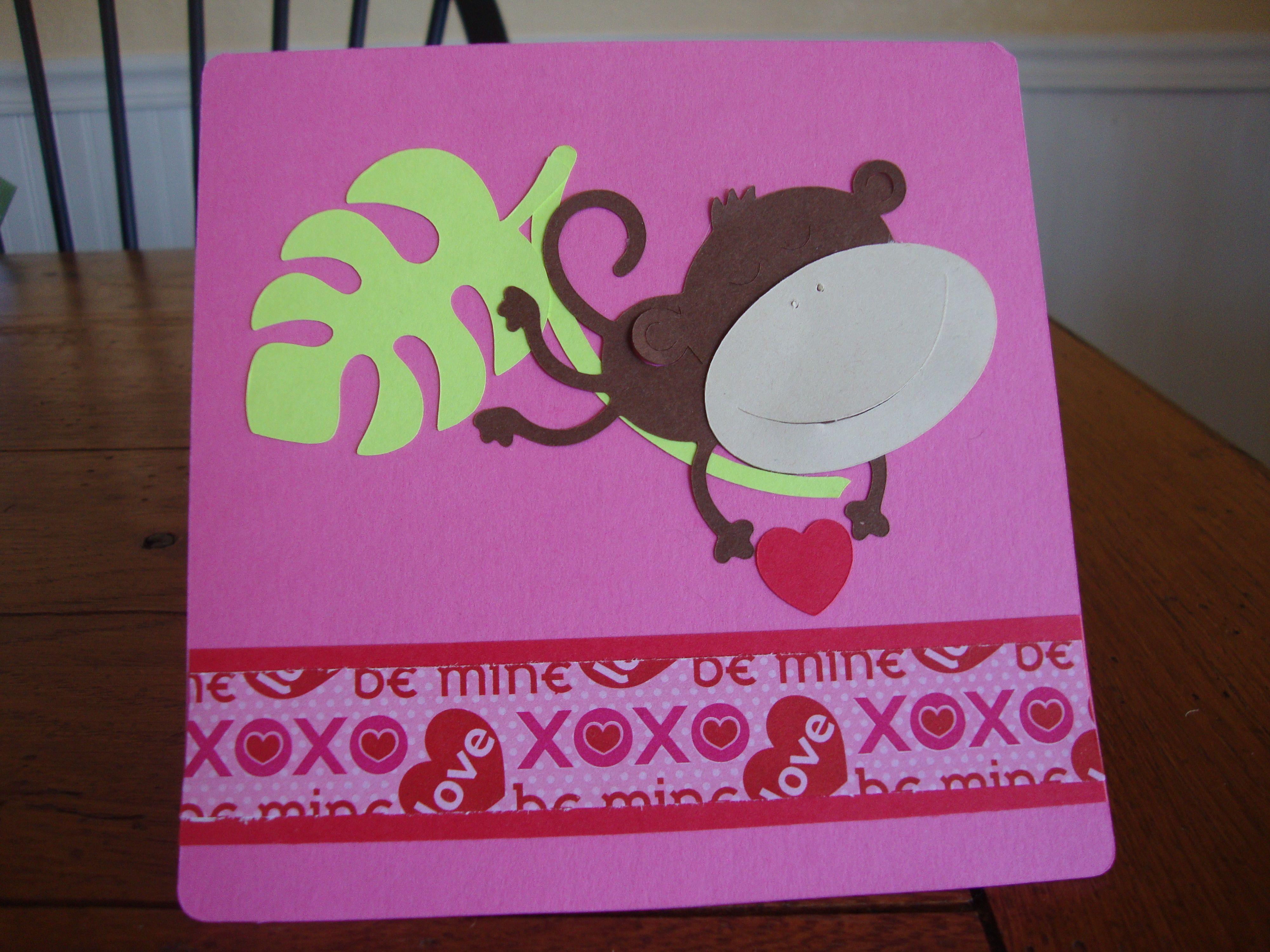 simple valentine card  valentines cards kids cards
