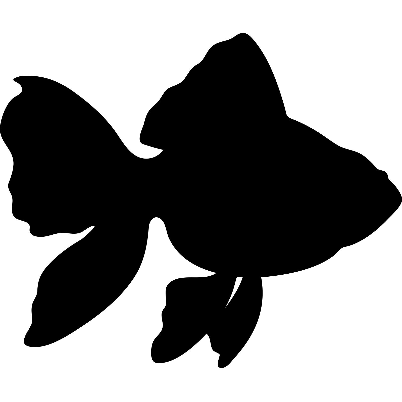 Gold Fish Silhouette Wall Sticker Decal World Of Wall Stickers Fish Silhouette Silhouette Painting Animal Silhouette