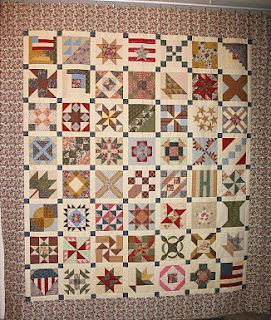 Civil War quilt. Amazing to remember that these quilts were made without a sowing machine!
