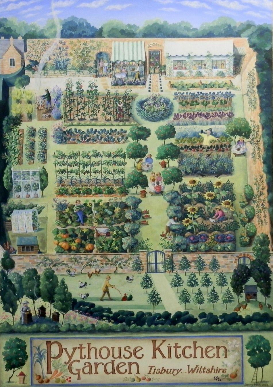 The Pythouse Kitchen Garden Amenagement De Jardin Potager Illustration De Jardin Design De Jardin Potager
