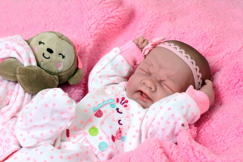 "BABY GIRL DOLL AMERICAN REBORN NEWBORN BERENGUER 15/"" VINYL SILICONE LIFE LIKE"