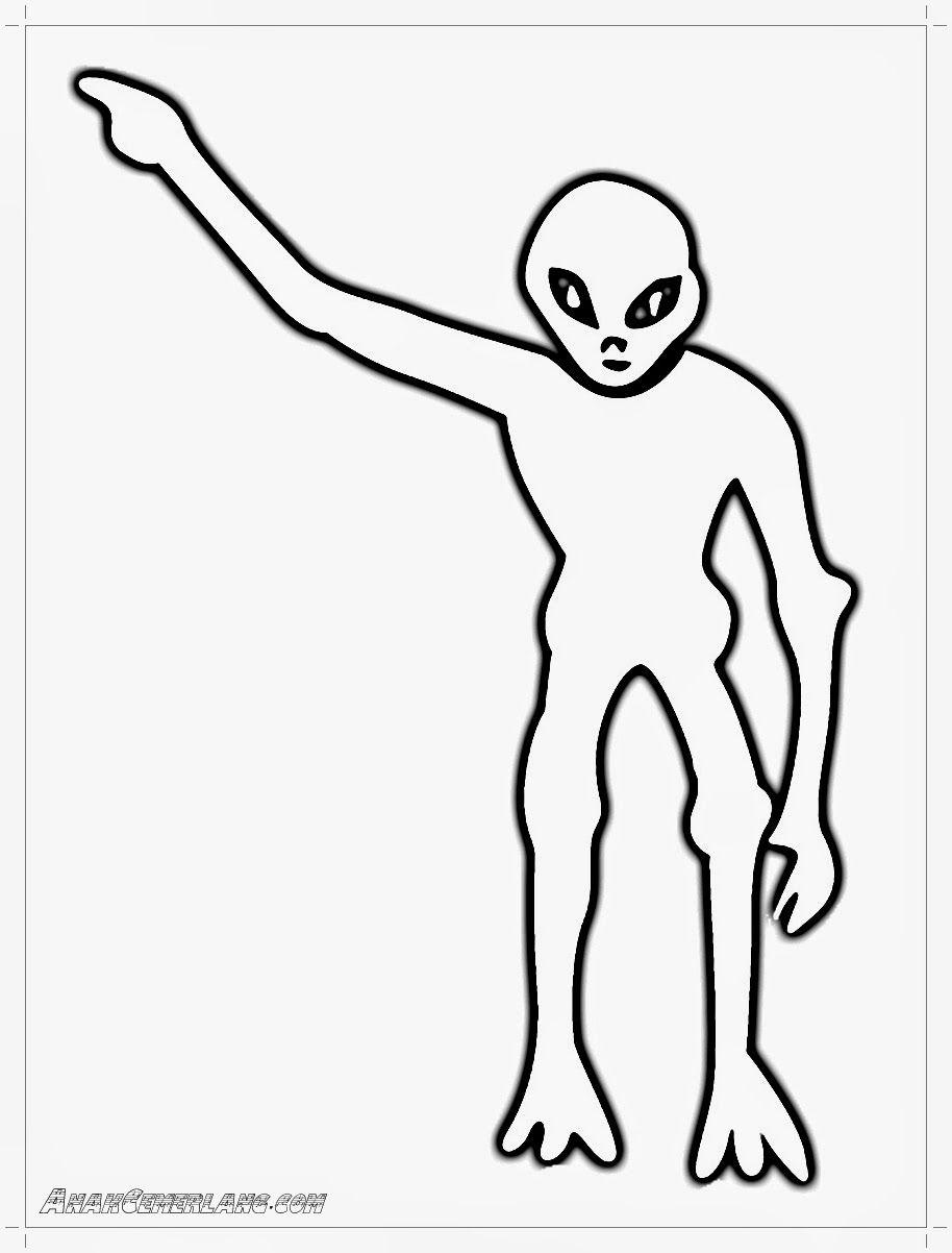 Gambar Alien Mewarnai Pinterest Aliens Dokter Diwarnai