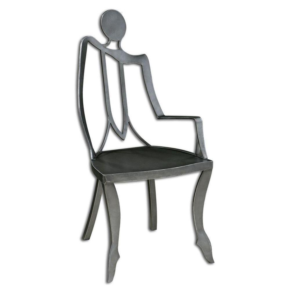 Sensational Details About Figural Modern Man Silver Sculpture Chair Machost Co Dining Chair Design Ideas Machostcouk