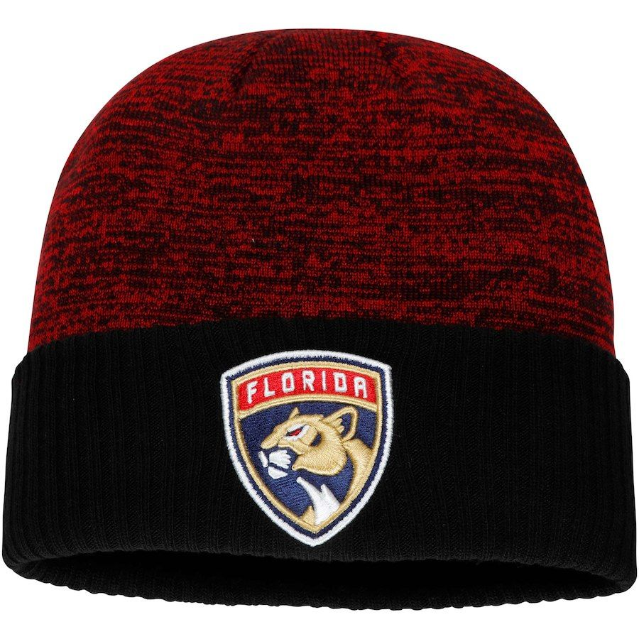 1ea3b82f8c9 Men s Florida Panthers Fanatics Branded Red Space Dye Cuffed Knit ...