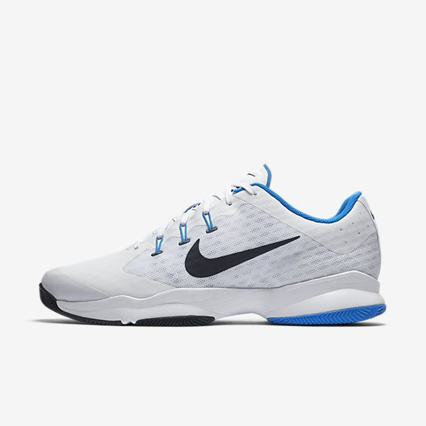 Nike Air Zoom Ultra Mens Tennis Shoes 11 12 White Obsidian Photo Blue  845007 140 #