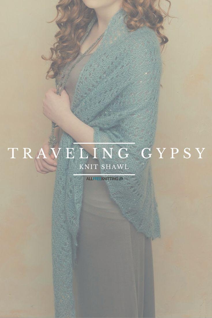 Traveling Gypsy Knit Shawl | Knit shawls, Free pattern and Shawl