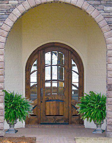 DbyD-2036. This Custom Country French Exterior Wood Entry is ...