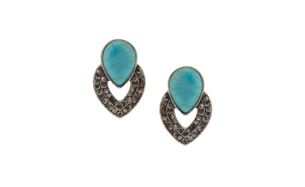 Turquoise Stone Earrings | PARFOIS