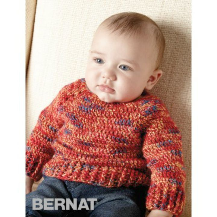 830e65dbc Crochet Hurry Down Pullover Free Easy Baby Pattern - 14 Free Crochet  Sweater Patterns for Babies - DIY   Crafts