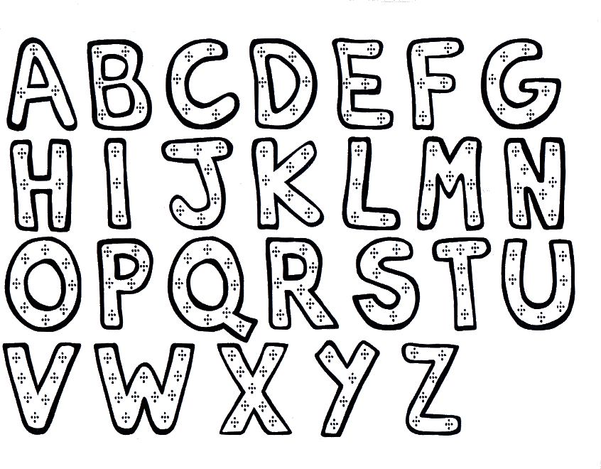 Free Printable Alphabet Letter Coloring Pages | Fun Board ...