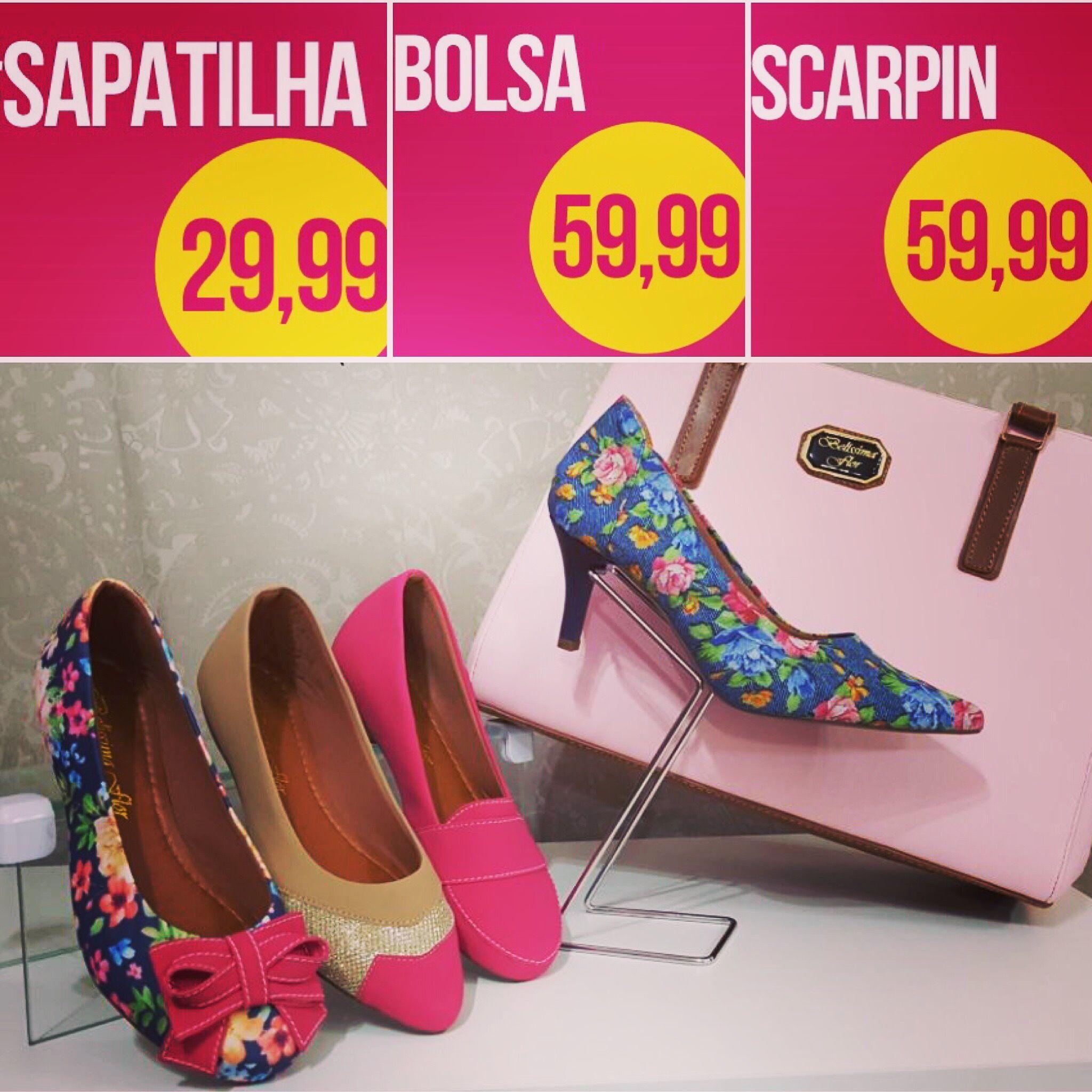 714ffa64a Belíssima Flor Jundiaí: Conforto, moda e preço justo andam juntos! |  Sapatilha
