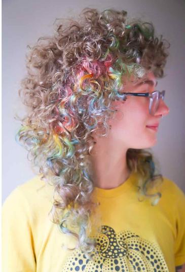 33++ Pastel rainbow curly hair inspirations