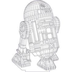 Star Wars R2d2 3d Illusion Vector File For Laser And Cnc 3bee Studio In 2020 3d Illusions Illusions 3d Illusion Lamp