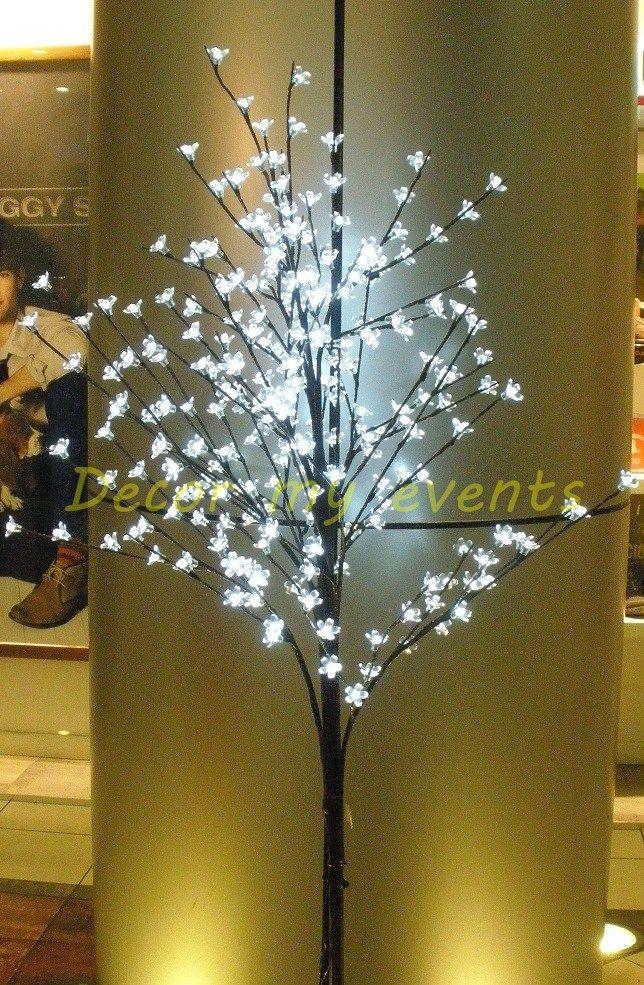 Sakura Tree Led Elegante Arbol De Cerezo Con Flores Transparentes Y Luz Led De Color Blanc Luces Led De Colores Arbol De Navidad Con Luces Arbol Con Luces