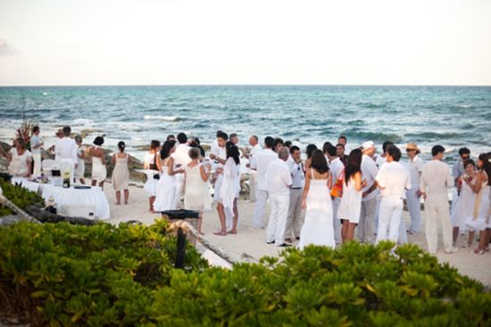 All Guests Wearing White 3 For Beach Wedding