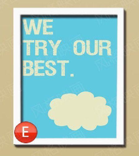 minimalist office decorative painting inspirational poster
