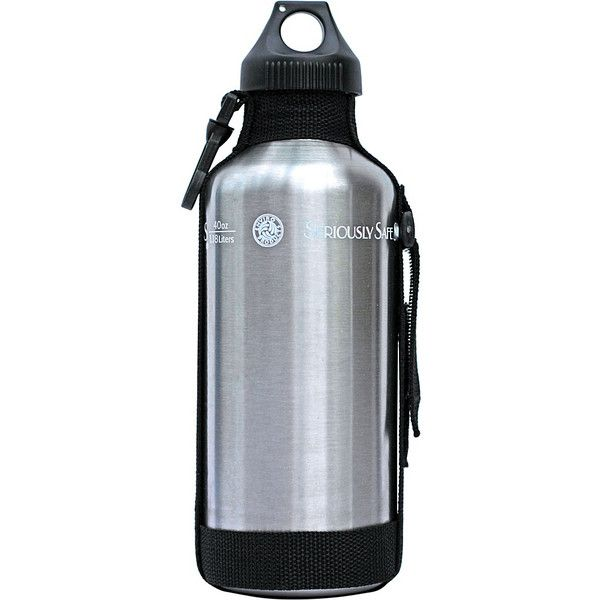 New Wave 40oz Stainless Steel Personal Water Bottle ($16) ❤ liked on Polyvore featuring home, kitchen & dining, grey, travel accessories and travel coolers