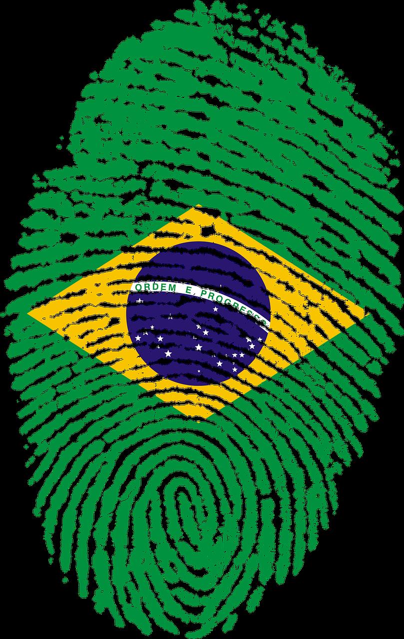 Brazil Flag Fingerprint Country Transparent Image Bandeira Do Brasil Png Bandeira Do Brasil Impressao Digital