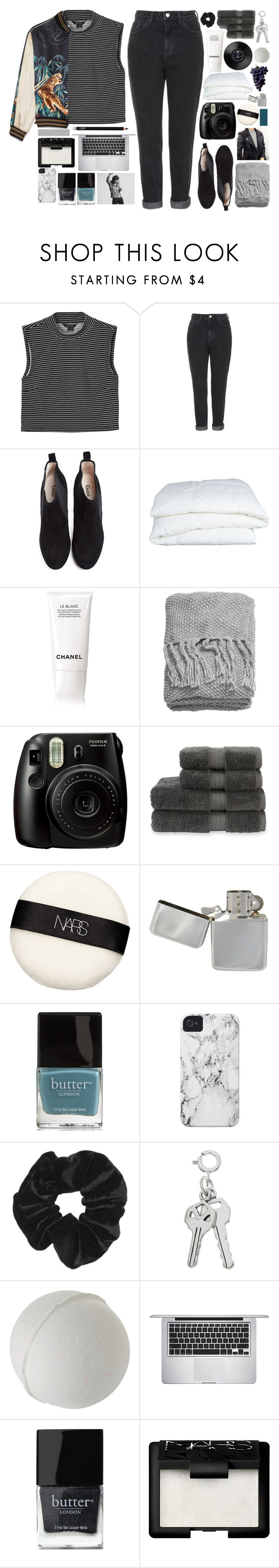 """""""tonight and always"""" by alanalove-123 ❤ liked on Polyvore featuring Monki, Topshop, Ganni, Crate and Barrel, Chanel, H&M, Christy, NARS Cosmetics, Butter London and Case-Mate"""