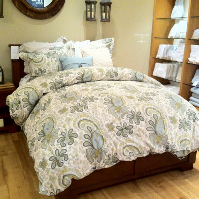 Charlie Paisley Duvet At Pottery Barn Condo Bedroom