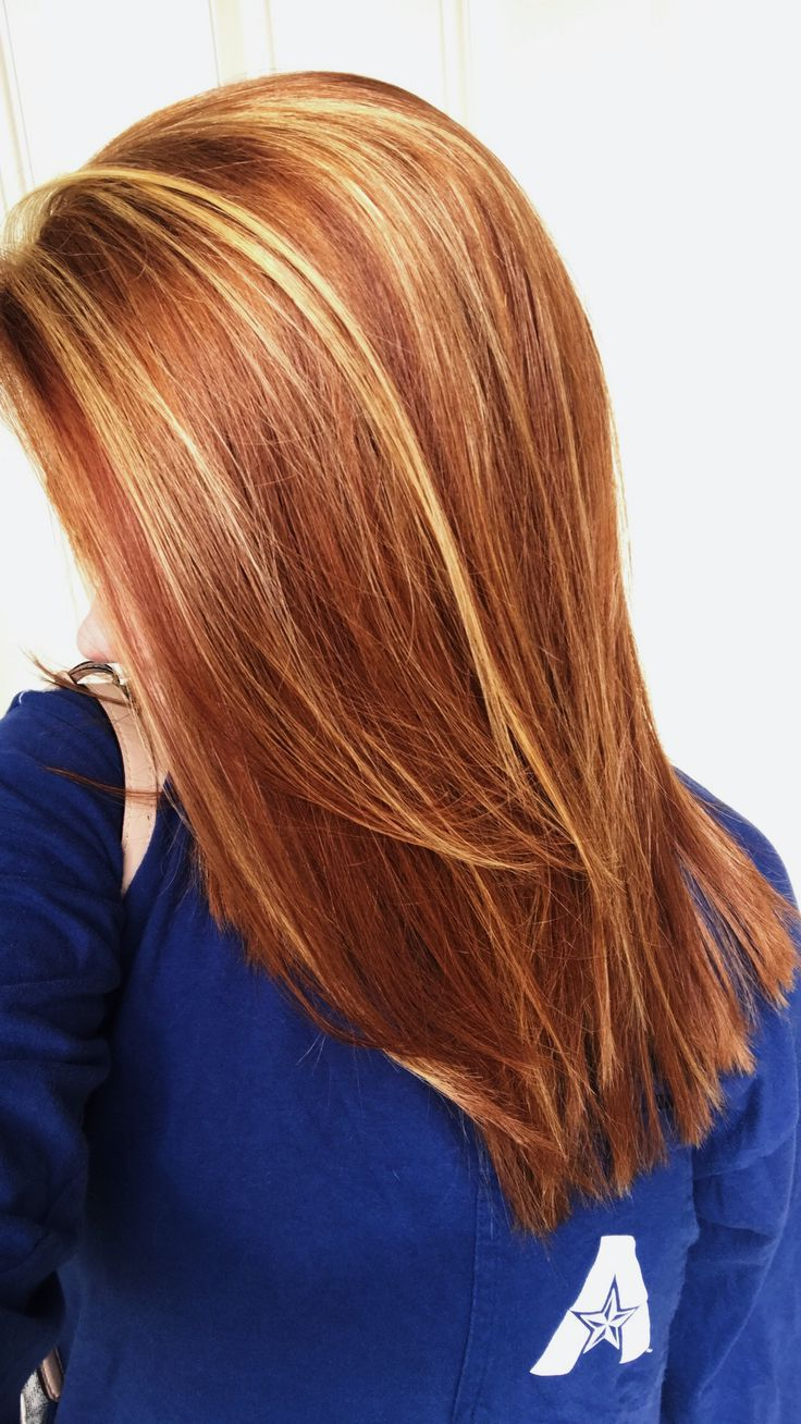 Image result for low lights highlights red and blonde