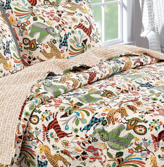 A cotton quilt set that'll make you feel like you're going on safari when you…
