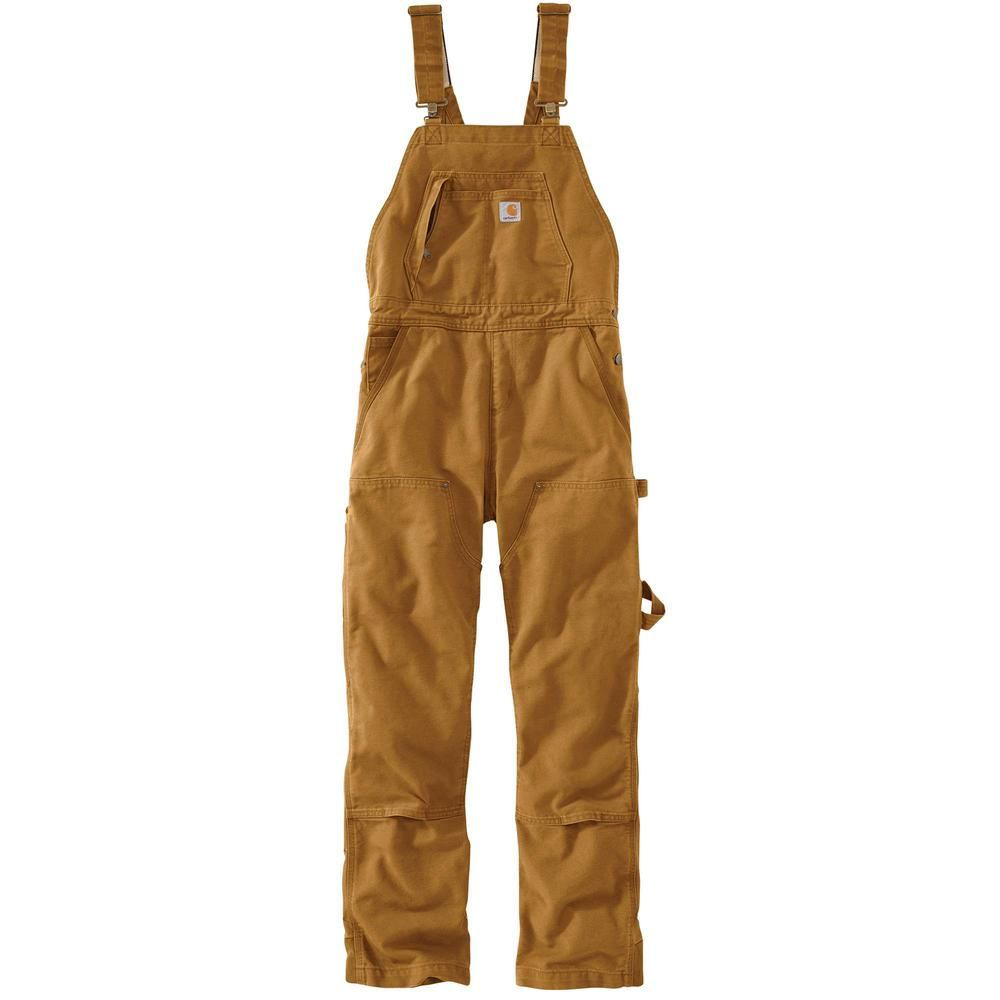 Carhartt Women's X-Large Tall Carhartt Brown Cotton Wildwood Unlined Bib Overalls-102966-211 #carharttwomen