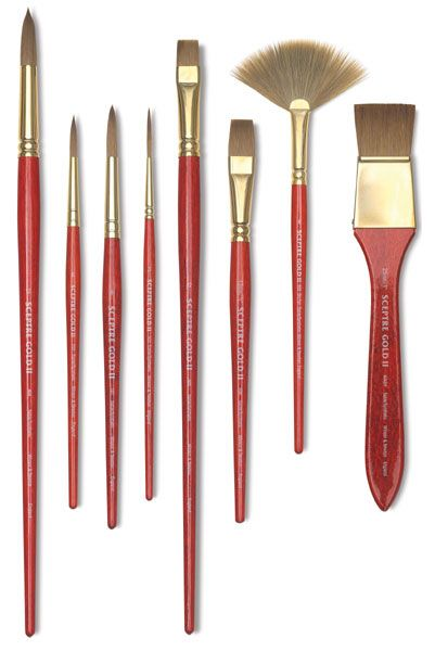 Winsor Newton Sceptre Gold Ii Brushes Watercolor Brush Pen