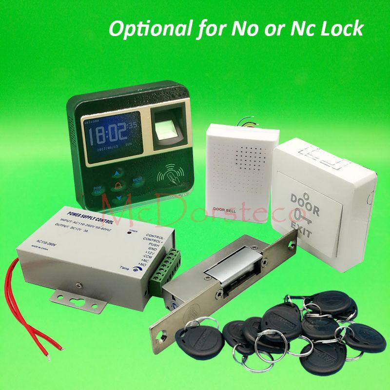 Diy Complete Narrow Type Electric Strike Lock Door System Kit Fingerprint Access Control System Power S Access Control Access Control System Door Lock System