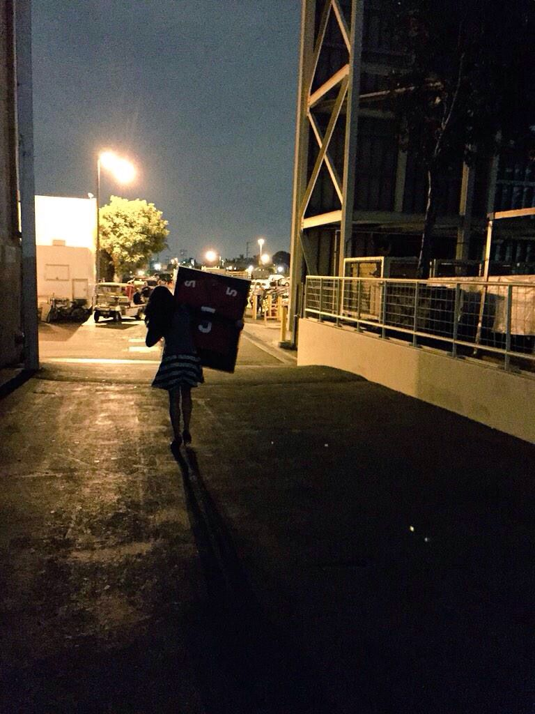Lea Michele taking Finn's football jersey home with her after wrapping Glee