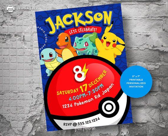 Pokemon invitation pokemon birthday invitation pokemon birthday birthday party ideas bookmarktalkfo Gallery