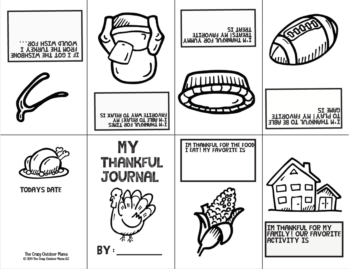 Thankful Activity Journal Printable For Kids