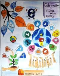 Digital India Drawing Competition Google Search Digital India Posters India Poster Digital India Drawing
