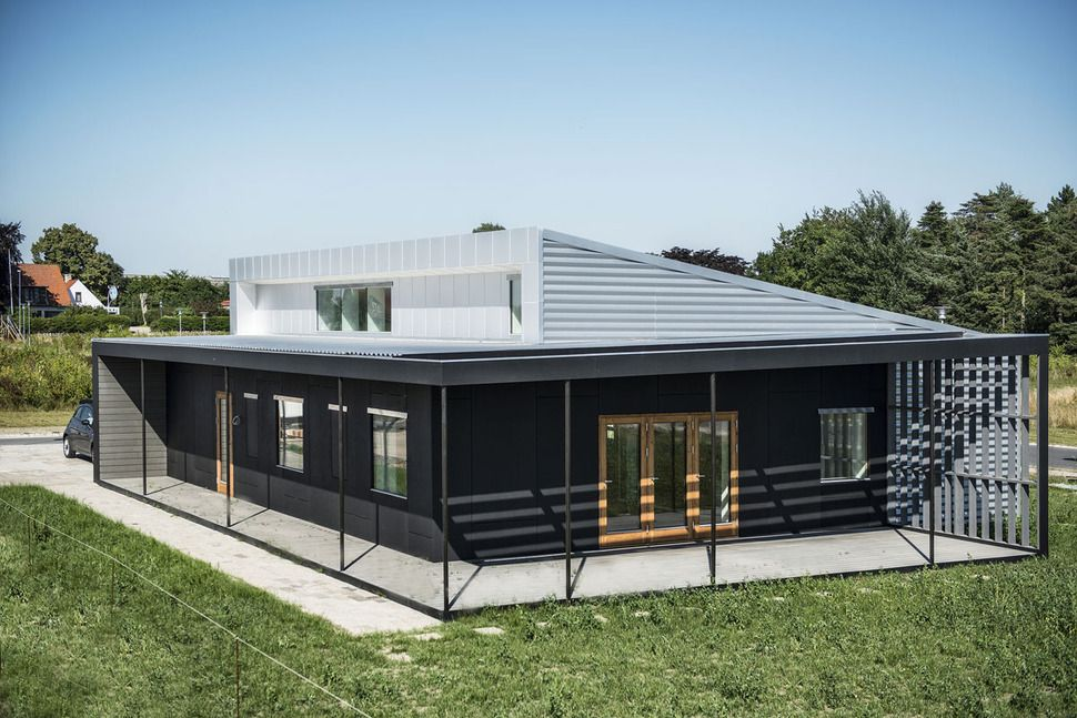 House Made From Shipping Container upcycle house: two prefabricated shipping containers, recycled