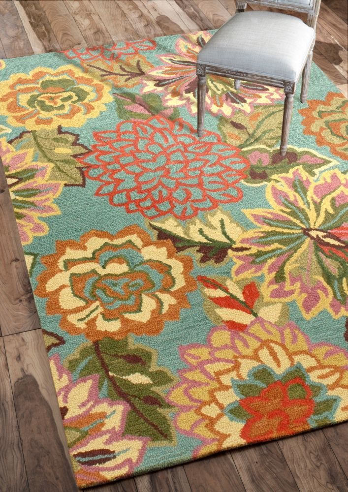 Bright floral rugs roselawnlutheran for Bright floral area rugs