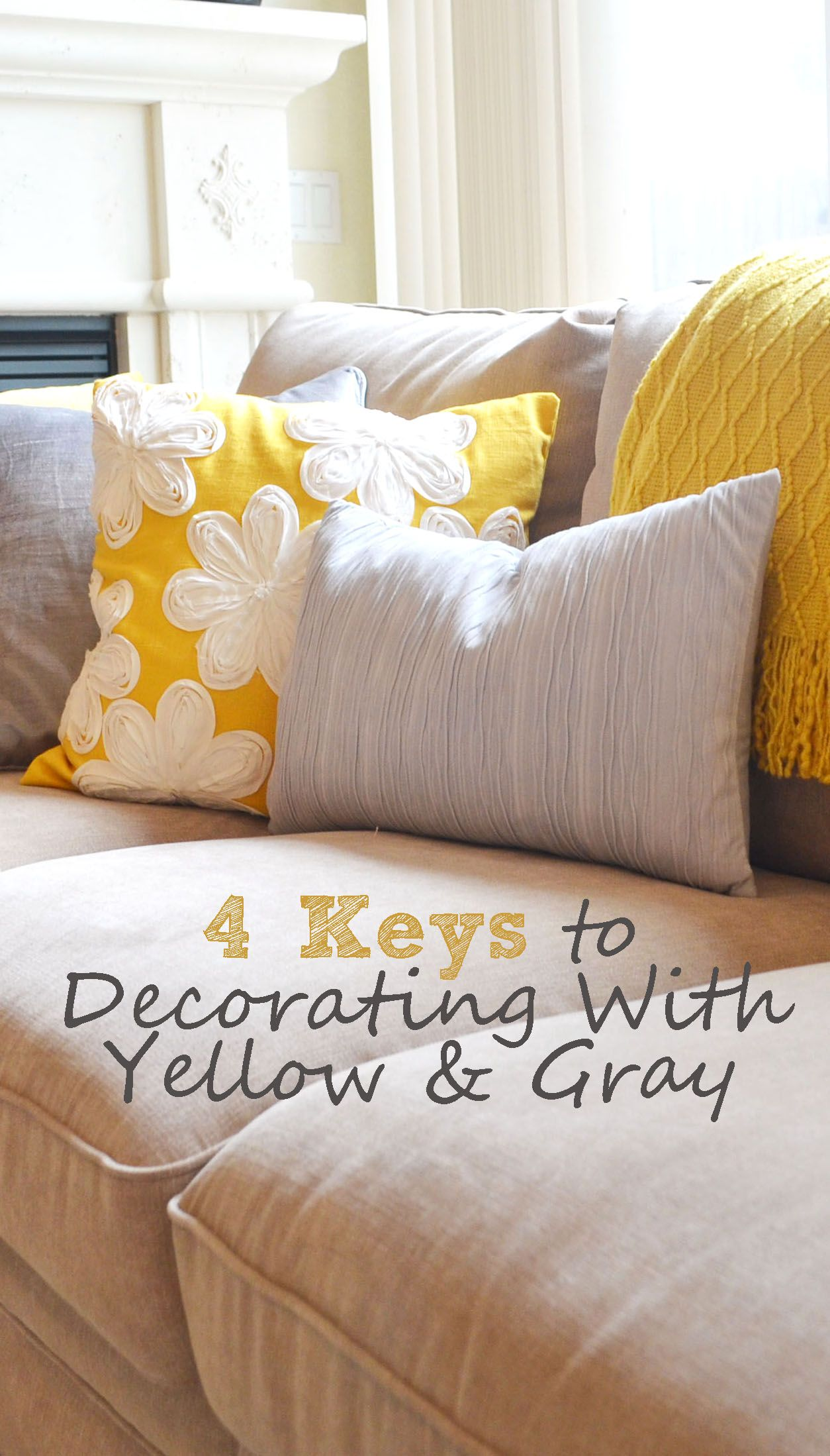 Decorating with yellow u gray gray decorating and living rooms